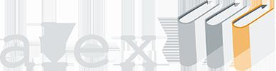 Alex författarlexikon logo